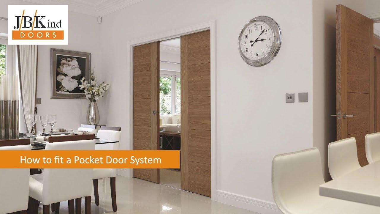 How to fit a Pocket Door System - JB Kind Doors & How to fit a Pocket Door System - JB Kind Doors - YouTube