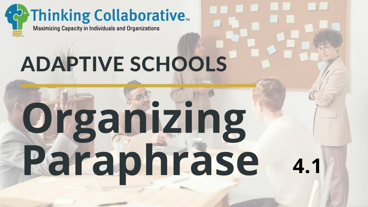 4.1 Organizing Paraphrase