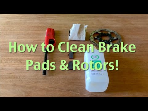 How to clean brake pads & rotors