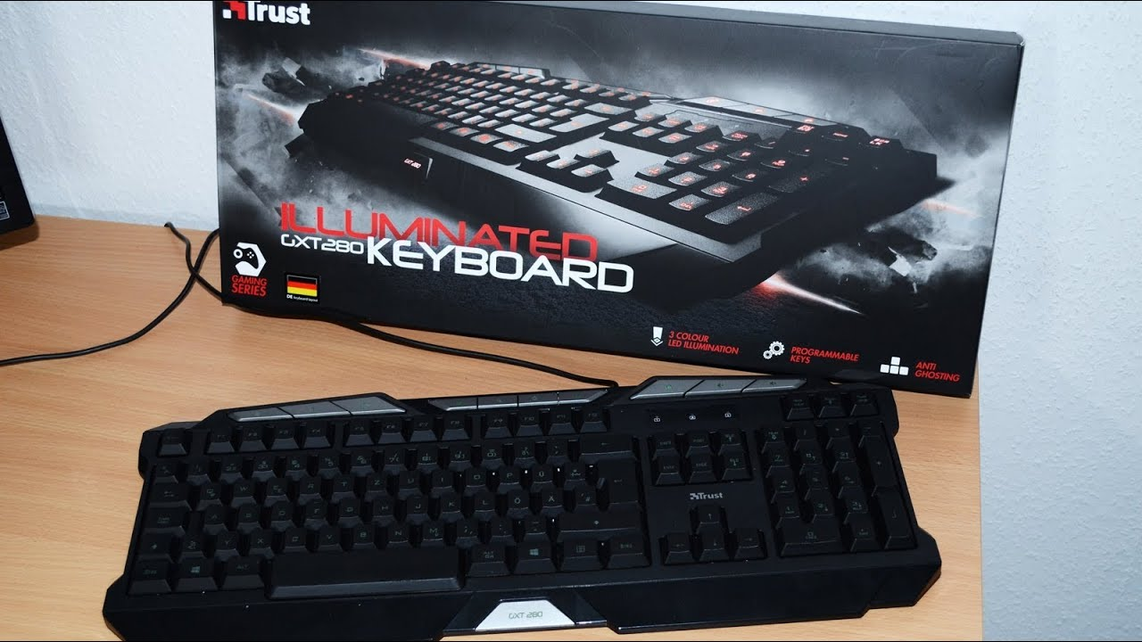50d4fab6c12 The Trust Gxt 280 Keyboard review - YouTube