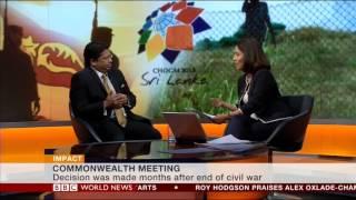 BBC World News Mishal Husain intervews Sri Lankan High Commissioner Chris Nonis