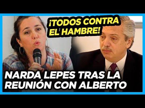 NARDA LEPES revela detalles de su reunión con ALBERTO en el Consejo contra el Hambre