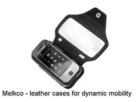 Melkco Tasche Leder Etui cuir ~Samsung Glyde SCH-U940 - Special Edition (Black)