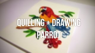 Quilling and drawing parrot time lapse / Papuga quilling plus rysowanie