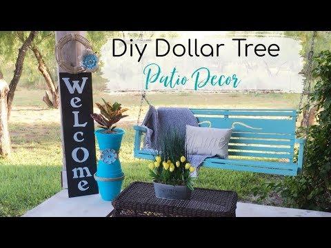 DIY DOLLAR TREE PATIO/PORCH DECOR | 2 DIYS OUTDOOR DECOR