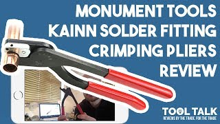 Monument 2076N 15mm KAINN Solder fitting Crimping Pliers Review By D A Gas Heating & Plumbing