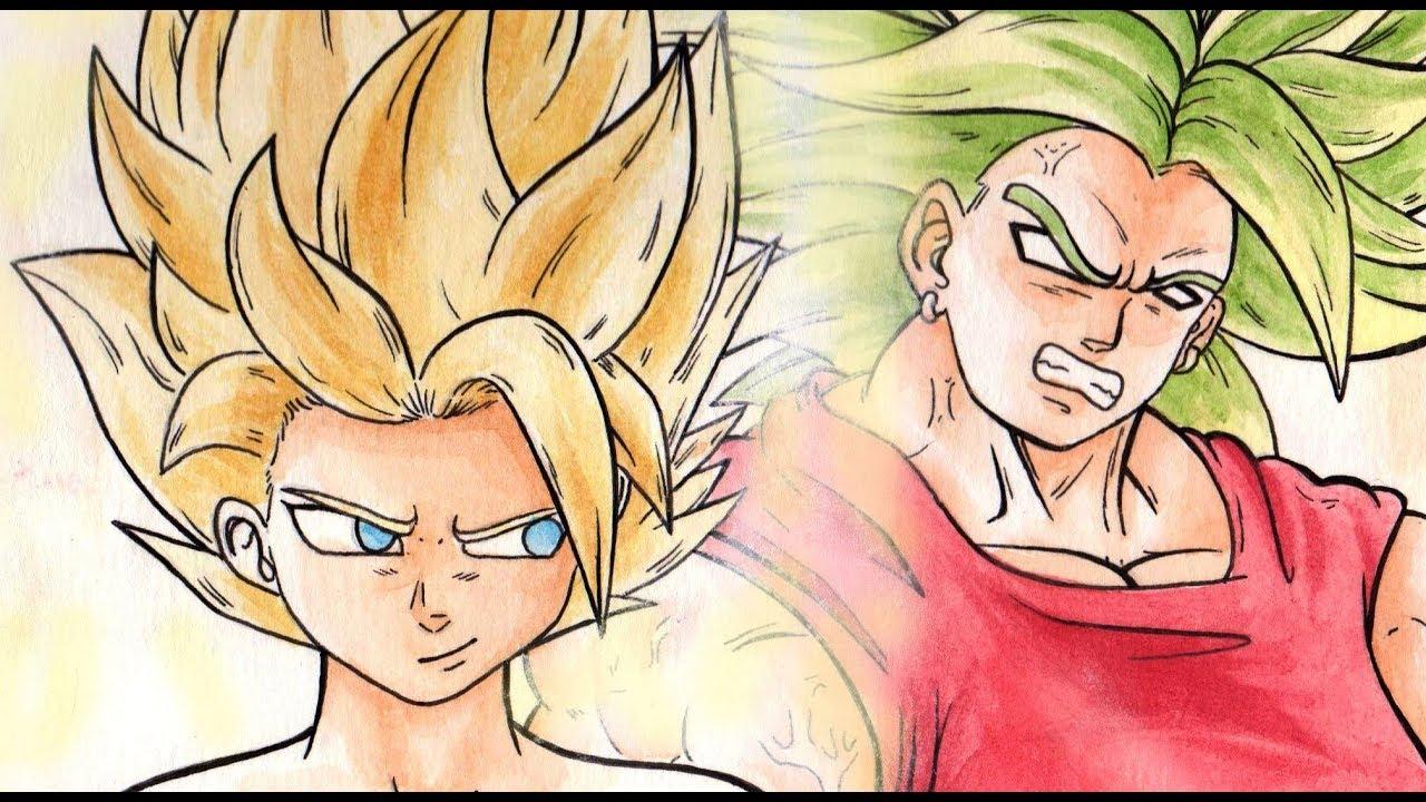 Dibujando A Kyabe Caulifla Y Kale Dragon Ball Super Con Acuarelas Pokermetal180