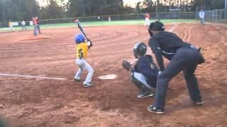 Alex (8yr) playing 14u baseball with big brother\'s team