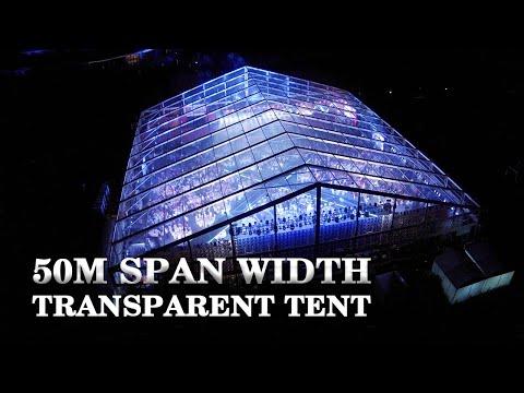 Liri 50m span width clear top tent,transparent tent, event tent, banquet tent