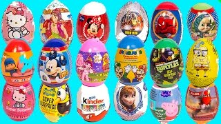 SURPRISE EGGS PEPPA PIG MICKEY MOUSE FROZEN SPIDERMAN SUPER MARIO MAWA PLAY DOH EGGS