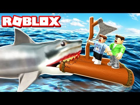 BUILD A RAFT & SURVIVE A JAWS SHARK ATTACK...