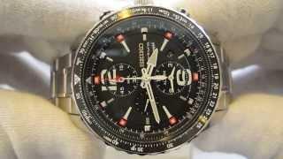 Обзор мужских наручных часов Seiko Sportura Chronograph SNAE95P1