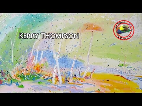 Fine art tips with a Free Whimsical Acrylic Art Lessons with Kerry Thompson on Colour In Your Life