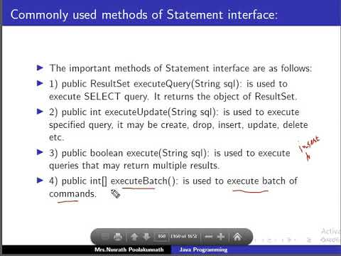 Java Statement And Result Set Interface