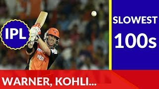 Top 10 Slowest Hundreds in IPL