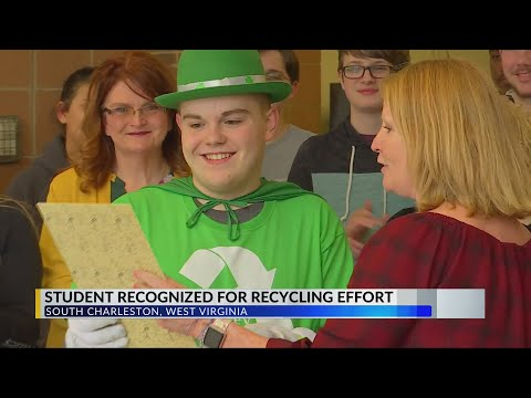 South Charleston High School Student Recognized for Recycling Efforts
