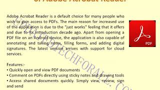 Top 10 PDF Reader for Android in 2020