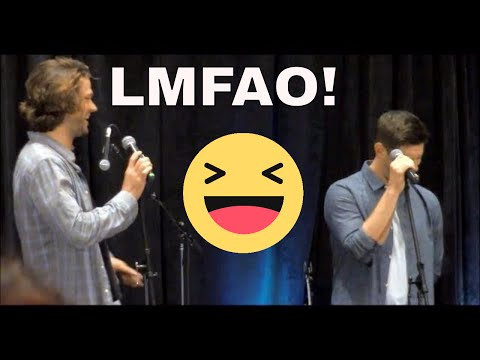Jensen Ackles Inappropriate Prank On Misha Collins In Season 13. Jared Loses It! Chicon 2017