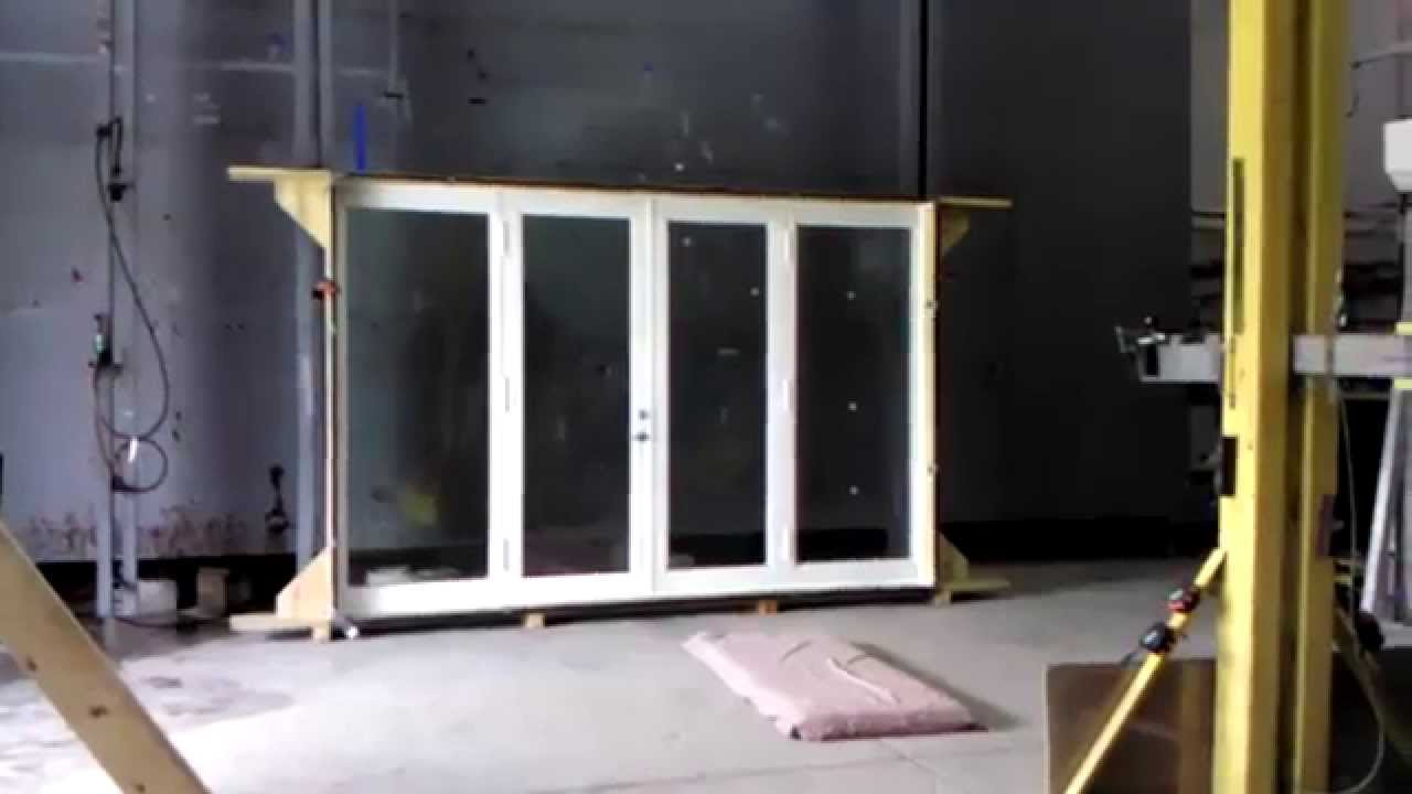 Lab test eco window systems impact french door youtube for Eco doors