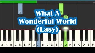 Louis Armstrong What A Wonderful World Easy Piano Tutorial