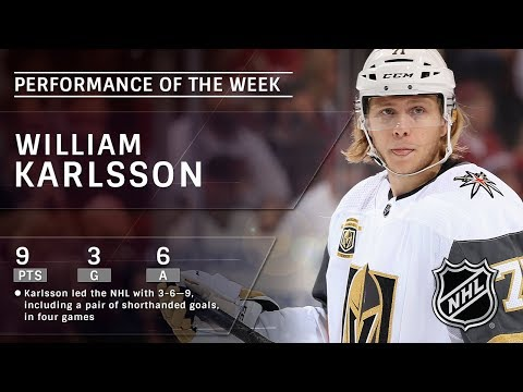 William Karlsson pots two shorthanded goals in impressive nine-point week