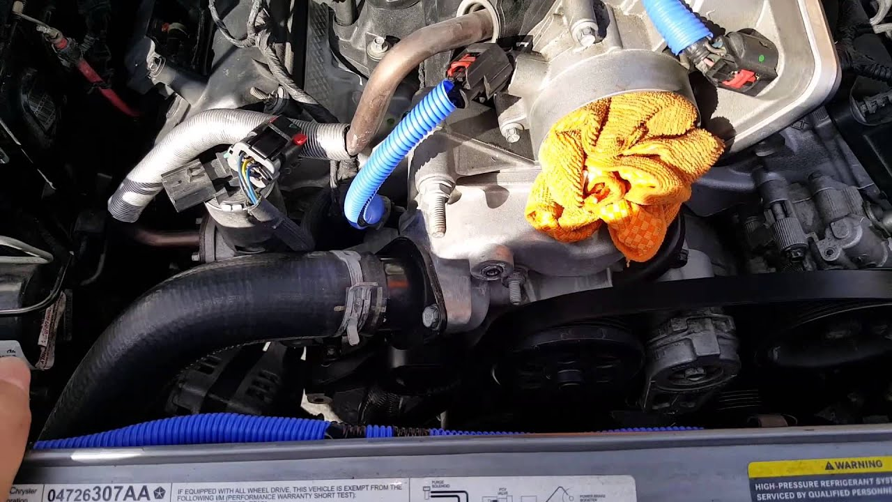 small resolution of dodge charger rt 5 7 alternator removal installation