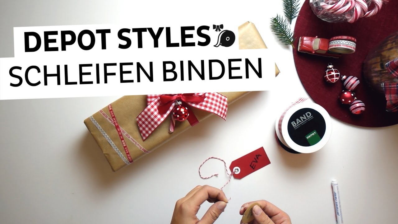 step by step anleitung zum geschenke verpacken teil 2 schleife binden youtube. Black Bedroom Furniture Sets. Home Design Ideas