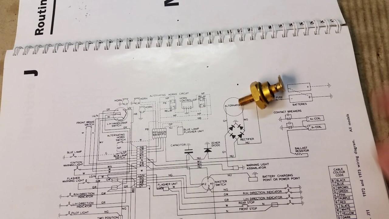 hight resolution of norton commando zener diode