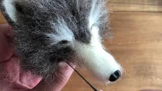 羊毛フェルトで作るオオカミの作り方