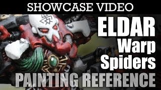 Painted Eldar Warp Spiders Warhammer 40k Showcase | HD Images and Video