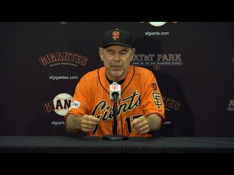 COL@SF: Bochy on Duffy's award, Heston's rookie year