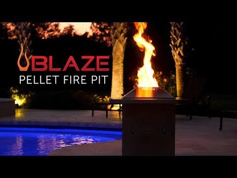 Blaze Wood Pellet Fire Pit   Blaze Outdoor Products
