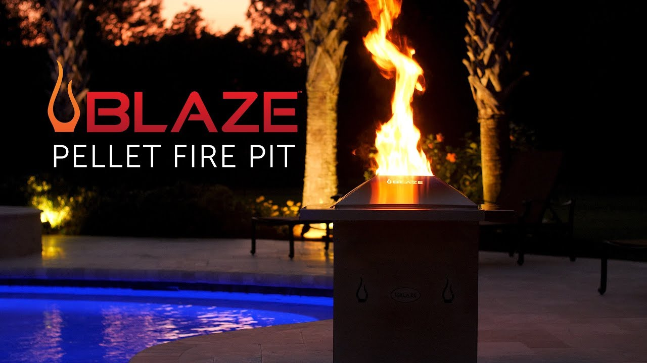 Blaze Wood Pellet Fire Pit Blaze Outdoor Products Youtube