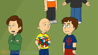 Caillou Fails To Solve A Rubik's Cube And Gets Grounded