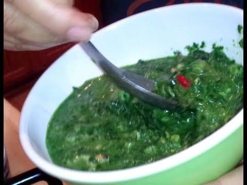 C/w Nana: Lao Spicy Algae Salad (ລາບເທົາ == Larb Thao)