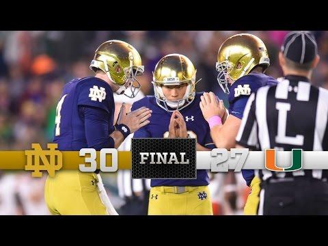 Notre Dame Football Highlights vs Miami (FL)