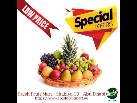 Get Fruit Basket for just 75 AED - A variety of fresh fruits perfect for gifting.