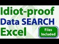 Search for and View Data using a Form in Excel - Idiot-Proof Excel - Part 6