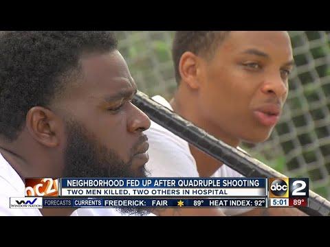 2 dead 2 hurt in quadruple shooting inNortheast Baltimore