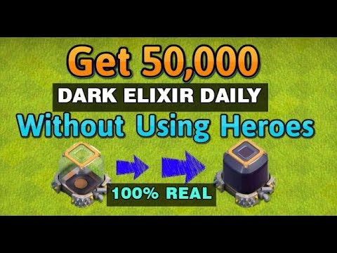 (Hindi) Clash of Clans Best Strategy to get 50k Dark Elixir Daily at TH9