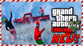 GTA 5 Online Christmas DLC - SNOWBALL FIGHTS, Holiday Beer Hats, Online Snow & MORE! (GTA V)