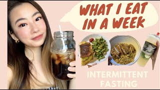 WHAT I EAT IN A WEEK  Intermittent Fasting  TikTok Recipe  ChineseKorean