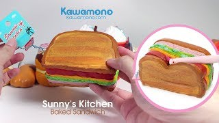 Happy Squeezing Sunny's Kitchen Baked Sandwich Squishy Toy