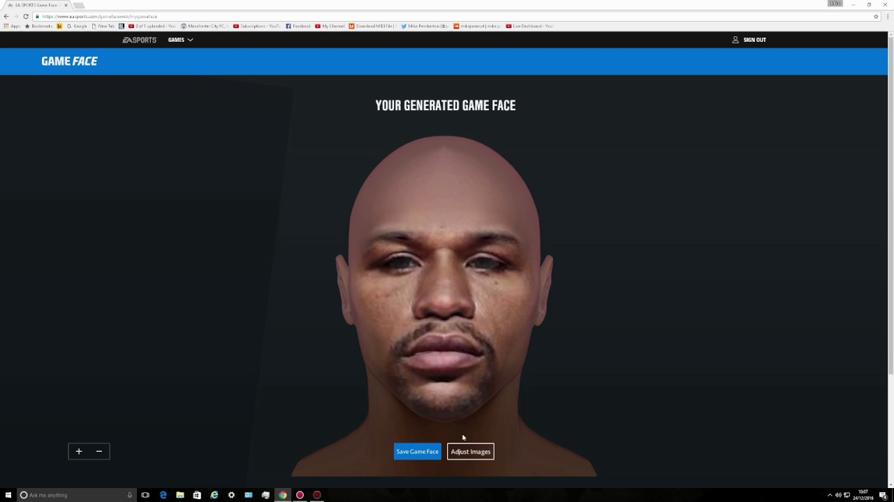 ea game face not working