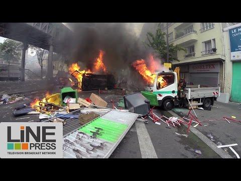 Manifestation pro Palestine dégénère. Violents affrontements / Paris - France 19 juillet 2014