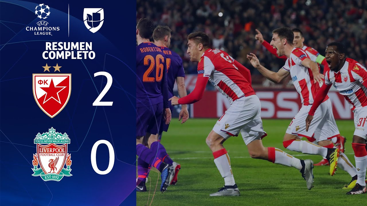 estrella roja 2 0 liverpool goles y resumen grupo c uefa champions league youtube estrella roja 2 0 liverpool goles y