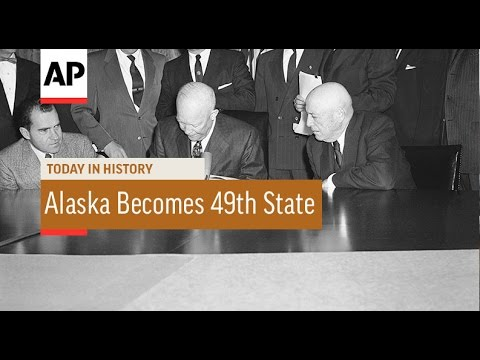 Alaska Becomes 49th State - 1959 | Today in History | 3 Jan 17