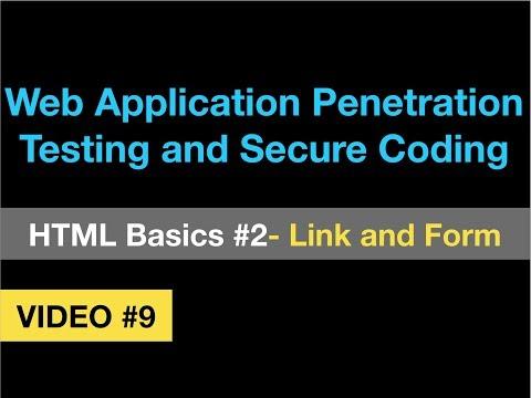 Web Pentesting #9 - HTML Basics - Part 2 - Link And Form