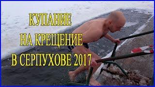 Купание на Крещение 2017. Купание в проруби 2017. Купание в Серпухове на Крещение