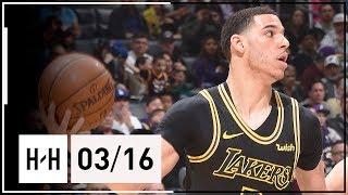 Lonzo Ball Full Highlights Lakers vs Heat (2018.03.16) - 9 Pts, 8 Reb, 8 Assists